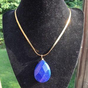 Vintage large lapis lazuli necklace